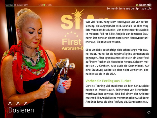 airbrushtanning hannover on stage